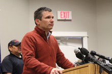 FBI Special Agent in Charge Greg Bretzing speaks on the conclusion of the Malheur National Wildlife Refuge occupation Thursday, Feb. 11.