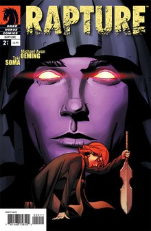 The cover to Michael Oeming and Taki Soma's 2009 comic, Rapture