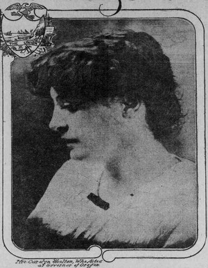 A portrait of Carrie B. Shelton published along with a profile of her in the Jan. 11, 1914, edition of The Sunday Oregonian.
