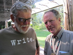 Kim Stafford, right, with Fishtrap co-founder Rich Wandschneider.