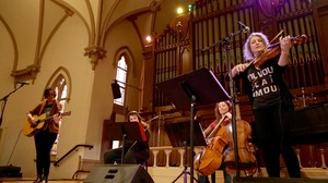 Sera Cahoone performs with strings at The Old Church