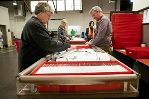Staff count ballots at the Multnomah County Elections Office in Portland, Ore. on Nov. 6, 2018.