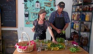 Kirsten and Christopher Shockey ferment basil, along with everything else they can grow, in the test kitchen in their home in Southern Oregon's Applegate Valley.