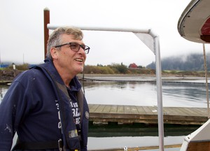 """Kelly Barnett is the skipper of the fishing vessel """"Good Intentions."""" He attended the class to learn everything he could about ocean safety."""