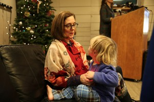 Oregon Gov. Kate Brown announced her request at the largest shelter for homeless families in MultnomahCounty.