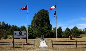 Confederate flags and stone markers honoring Jefferson David, the only President of the Confederacy were defaced Friday outside of Ridgefield, Washington.