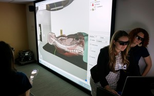 Using 3D goggles, people can get a better understanding of a medical procedure.
