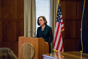 Oregon Gov. Kate Brown again called on the federal government to find a swift and peaceful resolution to the armed occupation in Harney County Thursday during an interview with OPB.