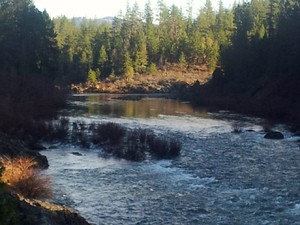 Josephine Creek where it meets the Illinois River in Southern Oregon was one of the first places gold was discovered by settlers in Oregon.