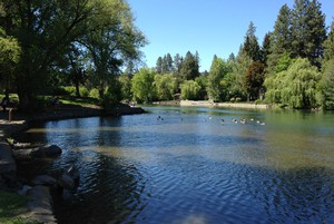 Bend's Mirror Pond, visible from Drake Park.