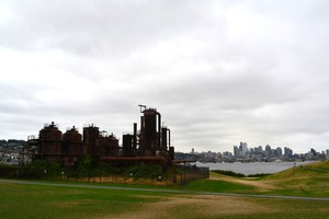 Seattle's iconic Gas Works Park preserves the city's industrial past--in more ways than one.