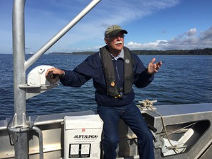 Washington State Commissioner of Public Lands Peter Goldmark on a tour of Cherry Point near Bellingham.