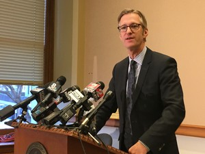 Portland Mayor Ted Wheeler answers questions from the press on Friday, Jan. 6, 2017.