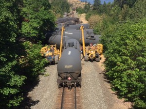 Crews subdued the fire from the oil train derailment in Mosier, Oregon, by the morning of Saturday, June 4, 2016. Cleanup on the oil spill and charred rail cars continued into the weekend.