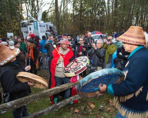 First Nations leaders have been protesting the Kinder Morgan pipeline plan for British Columbia since at least 2014.