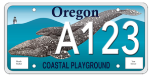 Oregon's Marine Mammal Institute is trying to introduce a new vehicle license plate.