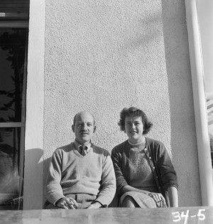 "A photo from ""France is a Feast: The Photographic Journey of Paul and Julia Child."" Paul and Julia in Marseille, 1950."