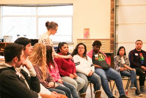 """Odalys Camacho says she's heard """"build the wall"""" and """"make America great again"""" in the halls at Oregon City High School."""