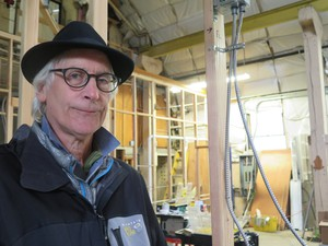 Ken Unkeles has a gift for turning old industrial spaces like this warehouse at NW Marine Ironworks, into desirable studio space for artists.