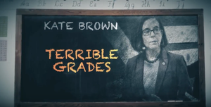 A spot from State Solutions calls Gov. Kate Brown's record on education into question.
