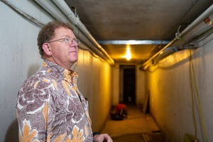 Corbett Superintendent Randy Trani walks through an uninhabited part of Corbett Middle School – which he says is desperately in need of repairs.
