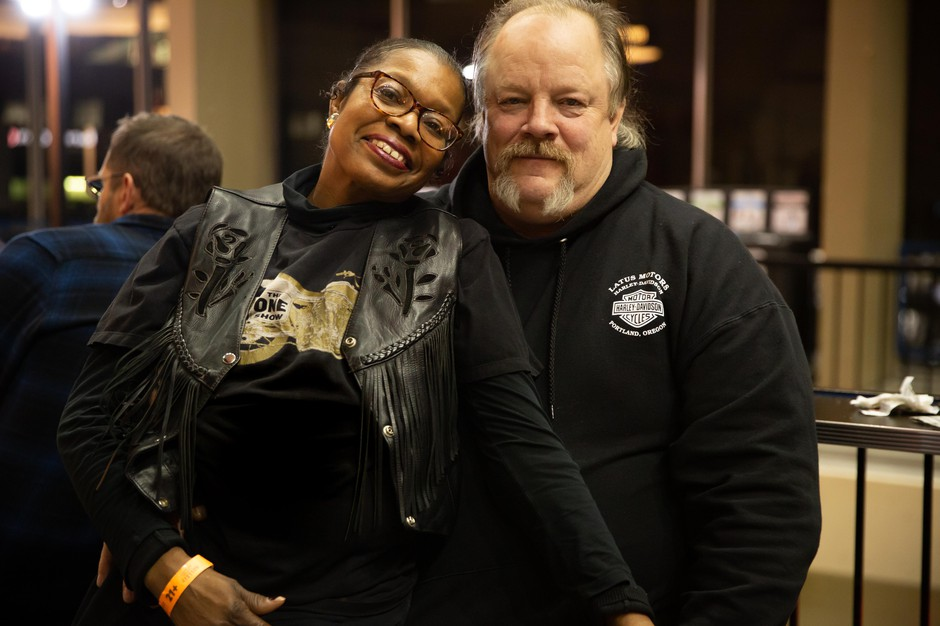 Diana Gantt and Todd Miller at the One Motorcycle Show in Portland, Ore.