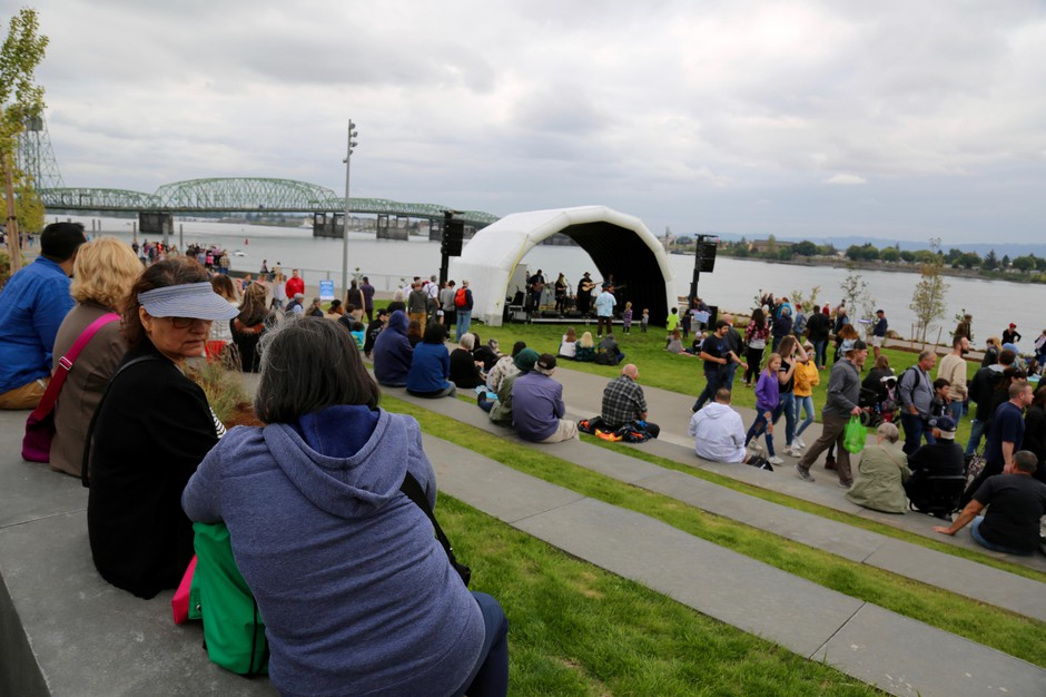 Thousands of residents attended the Vancouver Waterfront grand opening Saturday.