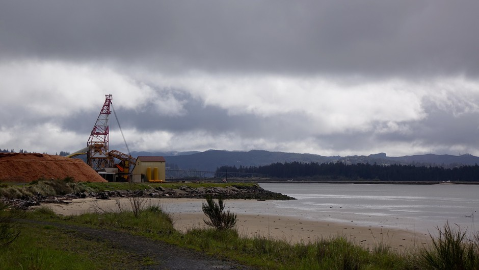A view of Coos Bay from a spot where Jordan Cove LNG terminal ship will be excavated, if approved by regulators.