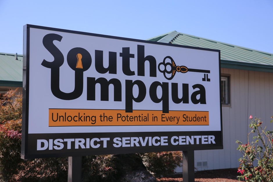 The South Umpqua School District service center in Myrtle Creek, Ore., Sunday, Aug. 29, 2019. The district will soon implement curriculum developed in collaboration with the Cow Creek Band of Umpqua Tribe of Indians.