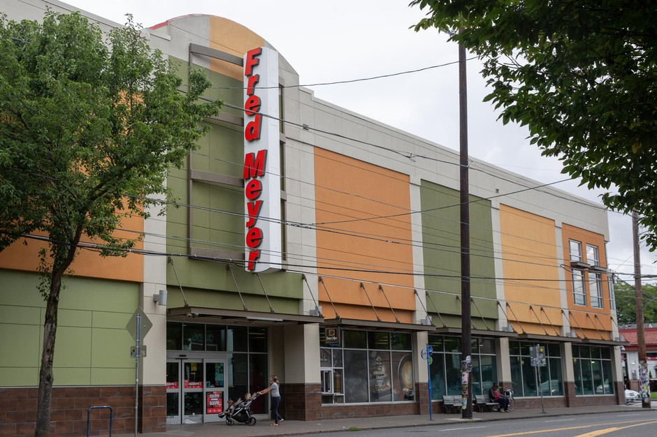 The Hawthorne Fred Meyer store is pictured in Portland, Ore., Monday, Sept. 23, 2019. A local union representing grocery workers from across Oregon and southwest Washington called for a boycott of Fred Meyer stores in the region.