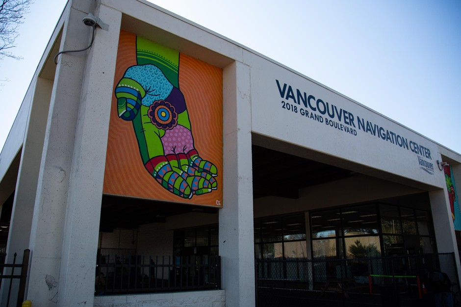 Vancouver's Navigation Center is pictured Tuesday, March 10, 2020, in Vancouver, Wash.
