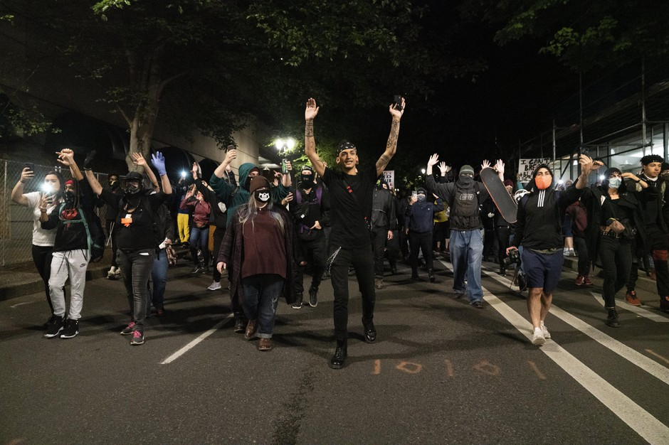 Thousands of people took to the streets for a third night in largely peaceful protests on May 31, 2020. The protests ultimately ended with police using tear gas and rubber bullets to disperse the crowd gathered around the Justice Center in downtown Portland.