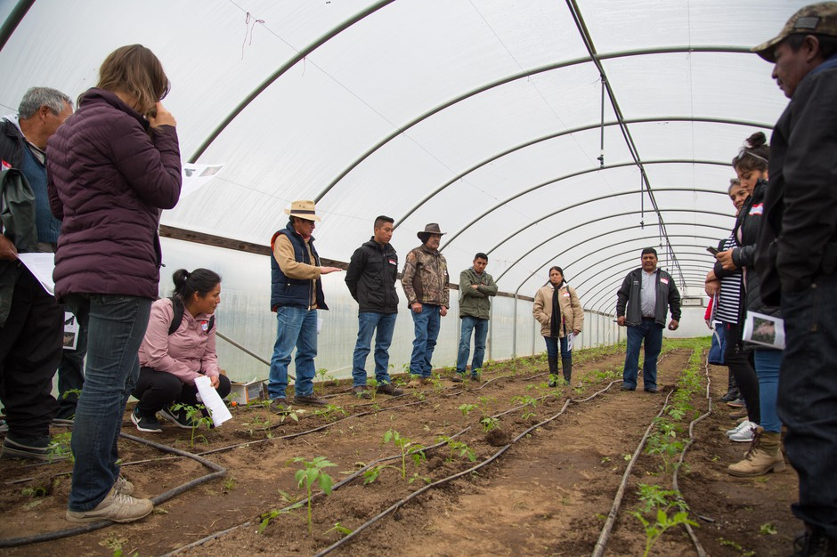 Alejando Tecum is teaching during the first annual Dia del Agricultor Latino, a full day of workshops for aspiring Latinx farmers.