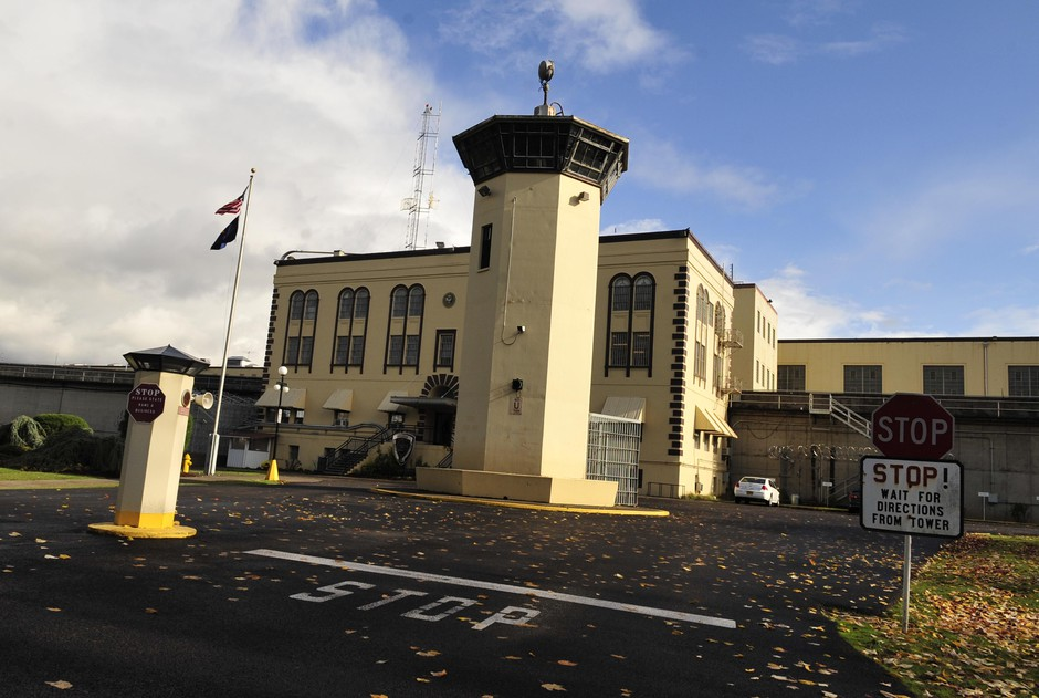 The Oregon State Penitentiary is seen, Friday, Nov. 18, 2011, in Salem, Ore. Now home to the state's largest confirmed outbreak of the coronavirus, the prison is not a place where many of the best practices to slow the spread of the disease — including social distancing — can be implemented.