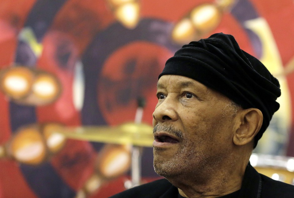 "Jazz musician Roy Ayers, looks on during his workshop with young music artist at Funda Centre in Soweto, South Africa, Friday, Sept. 29, 2017. Ayers, who is in South Africa for a jazz festival, radiated enthusiasm on Friday as he urged a couple of dozen people at an arts center to ""vibe on"" role models even if they don't always meet expectations."