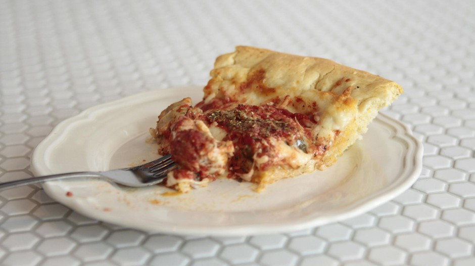 Deep-dish pizza is also available by the slice if you're short on time.