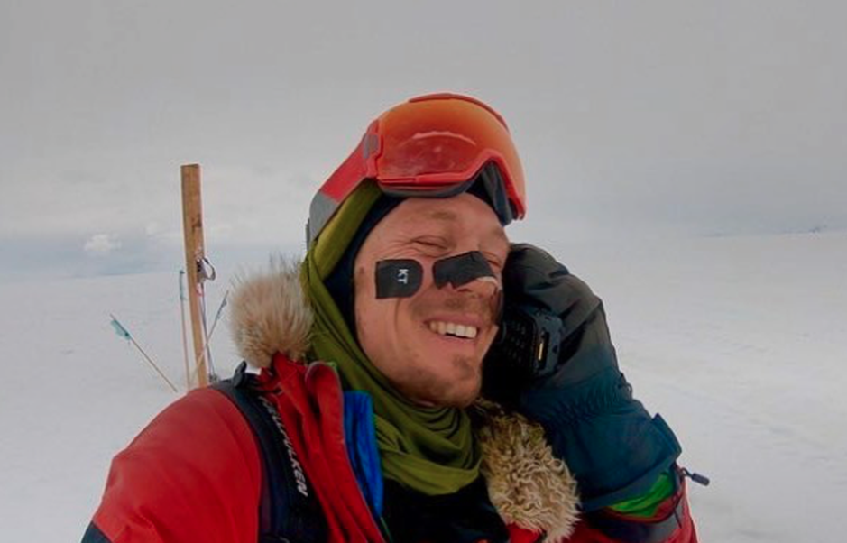 In December 2018, Colin O'Brady claimed to be the first person to successfully traverse Antarctica from coast-to-coast alone and without wind assistance. He documented much of the feat on his social media.