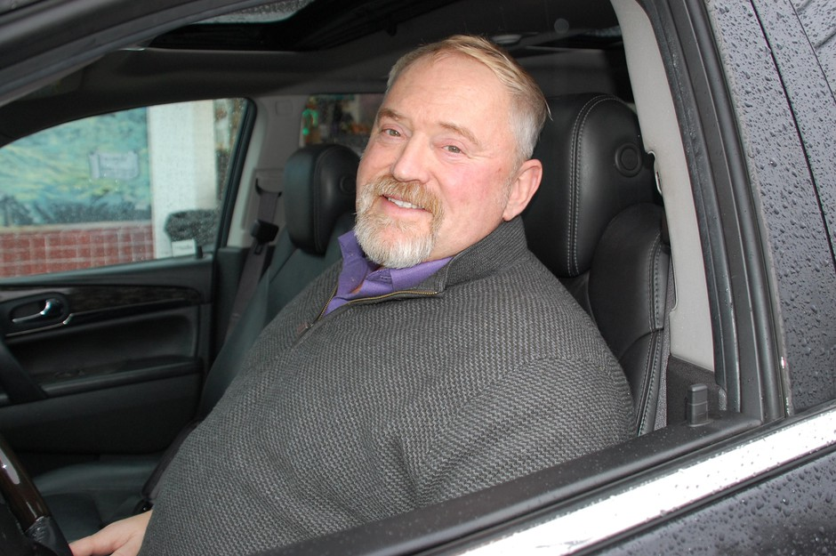 Uber and Lyft driver Duane Hanson in Portland, Ore., on March 6, 2020, early in the U.S. coronavirus outbreak. He got sick shortly after and applied for unemployment benefits on March 27.