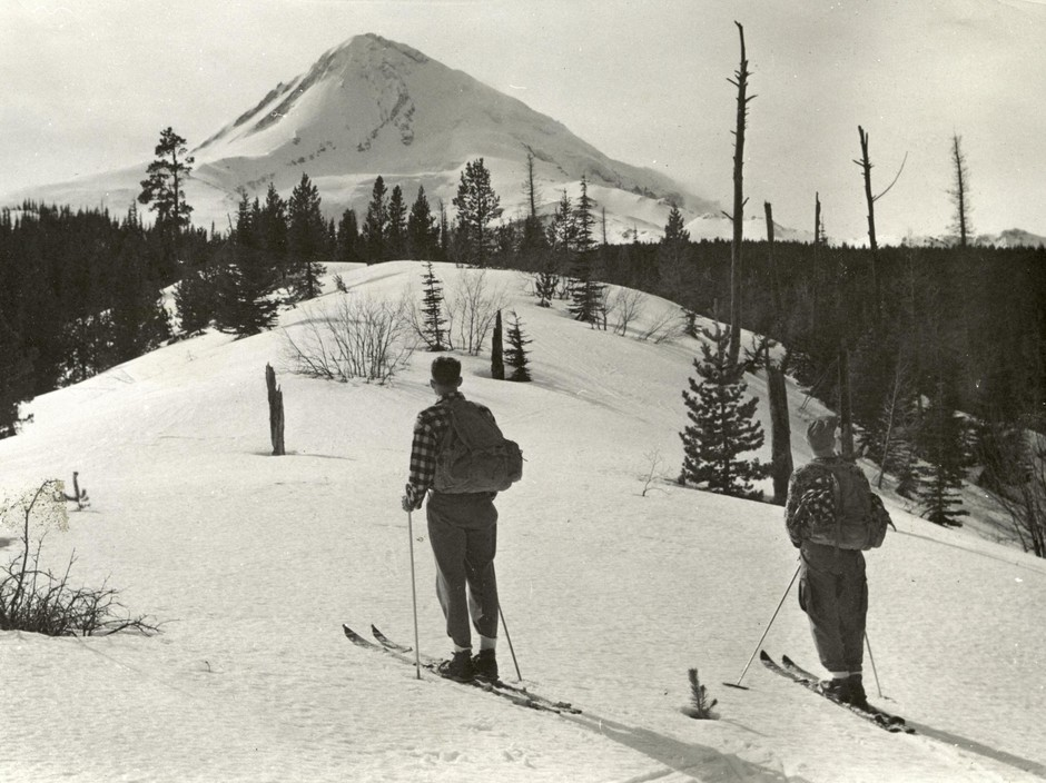 """The original way to """"earn your turns"""" in the era when Tilly Jane was built."""
