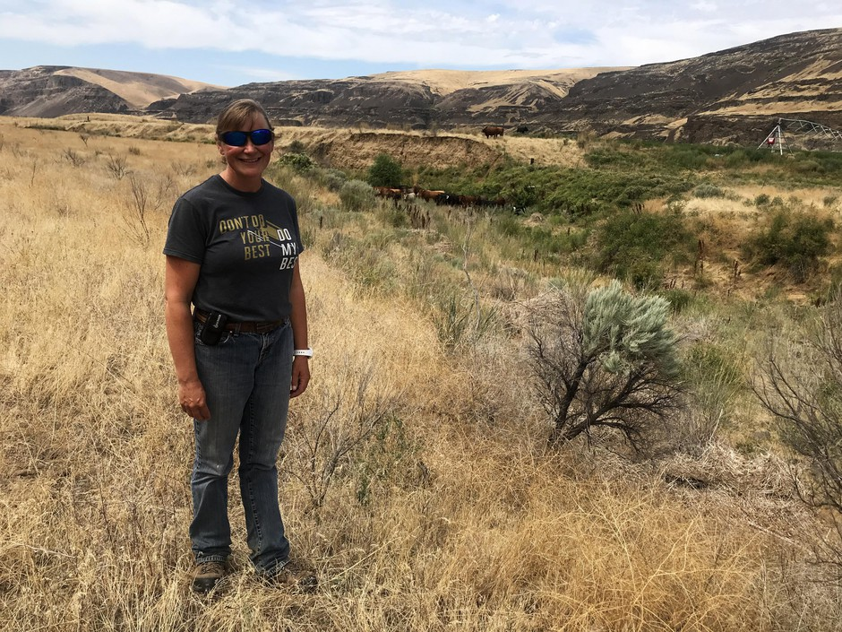 Rancher Molly Linville would like ranchers to be able to fight fires on their own property in Washington. She hopes the state will allow ranchers to form rangeland fire protection associations in areas where no agency is assigned to respond to wildland fires.