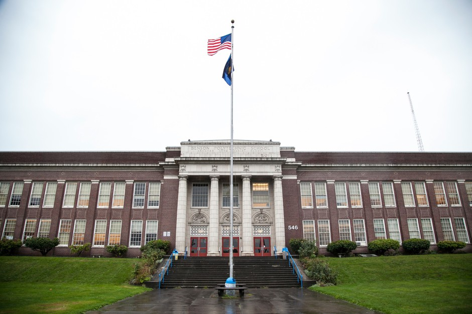Benson Polytechnic High School in Portland, Ore., is pictured Dec. 13, 2014.
