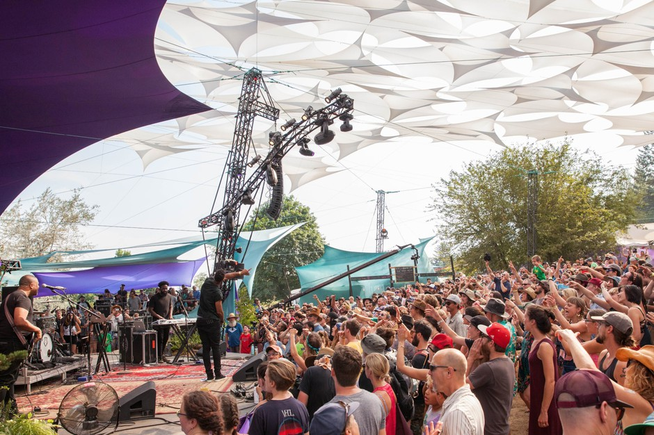 Black Milk kept the Pickathon crowd jumping during his set on the Mount Hood Stage Sunday, Aug. 6, 2017.