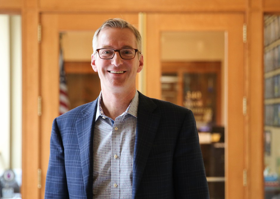 Portland Mayor Ted Wheeler at City Hall.