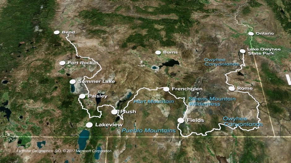 Plush Oregon Map.A Trail That S Not A Trail Through The Oregon Desert Tv Opb