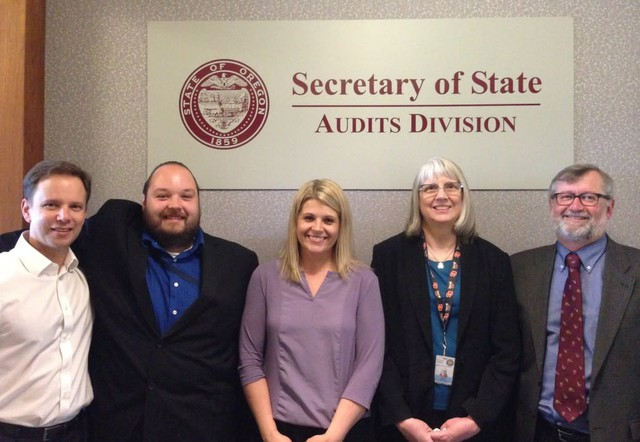 Jamie Ralls, Audit Manager at the Secretary of State's audit division, is pictured in the middle.
