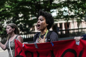 Black Lives Matter organizers and allies protested in Downtown Portland on Aug. 11, 2015.
