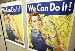 Multiple women have been identified over the years as possible models Rosie the Riveter, the iconic female World War II factory worker.